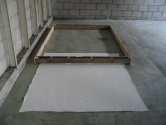 Untitled. Duivendrecht Project.  Close-up of floor frame. 2006.